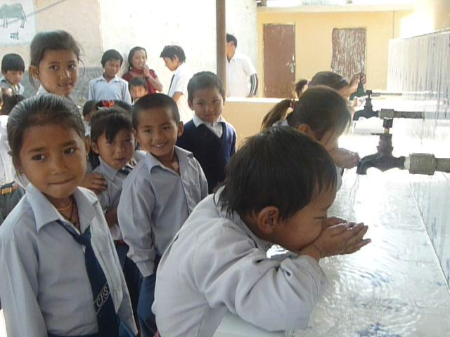 drinking water supported to school